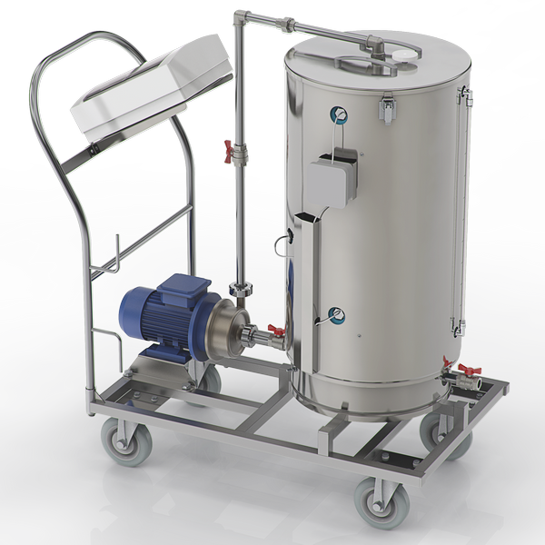Thermo-tank for collecting water for injections and sterile solutions